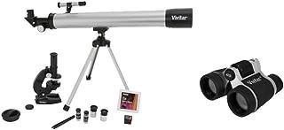 Vivitar VIV-TELMIC-40-BLK Telescope, Microscope and Binocular Kit, Black
