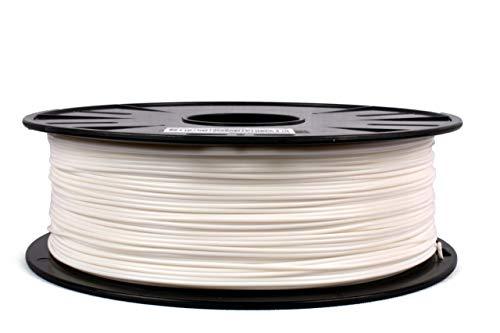 JANBEX PLA Filament 1,75 mm 1kg Rolle für 3D Drucker oder Stift in Vakuumverpackung (Weiß)