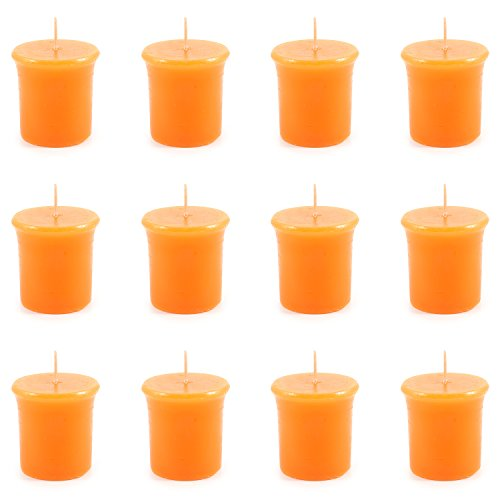 Pajoma Vela perfumada, Color Naranja, 12 Unidades