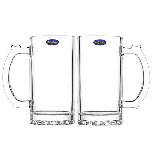 Amlong Crystal Lead-Free Beer Mug - 16 oz, Set of 2