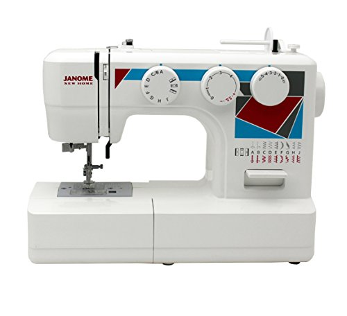 Janome MOD-19 Easy-to-Use Sewing Machine with 19 Stitches, Automatic Needle Threader and 5-Piece Feed Dogs