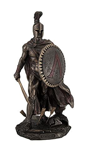 Skulptur von König Leonidas von Sparta mit Schwert & Schild