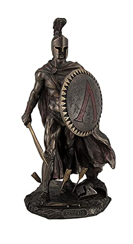 Veronese Design Spartan King Leonidas with Sword and Shield Bronzed Statue