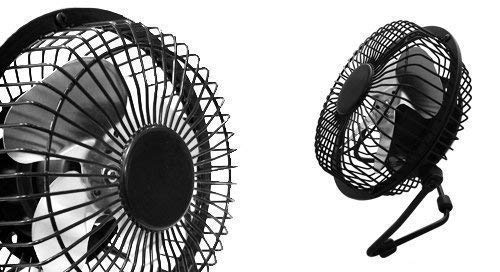 Go Gadgets BLACK Portable USB Retro Desk Fan for PC , Laptop , Netbook, Ultrabook, Apple Macbook , iMac