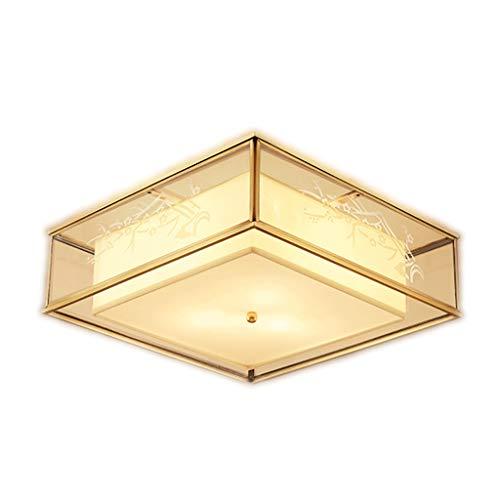 Plafondlamp helder volledig koper slaapkamer woonkamer afgeronde ruimte glas sfeer huishouden eenvoudige lampen robuust