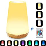 ROYFACC LED Nursery Night Light Touch Lamp Bedside Table Lamp for Kids Bedroom...