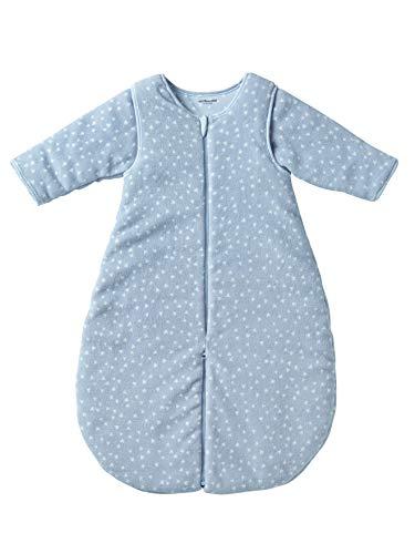 Vertbaudet Schlafsack/Overall für Babys, Mikrofaser blau/Dreiecke 70