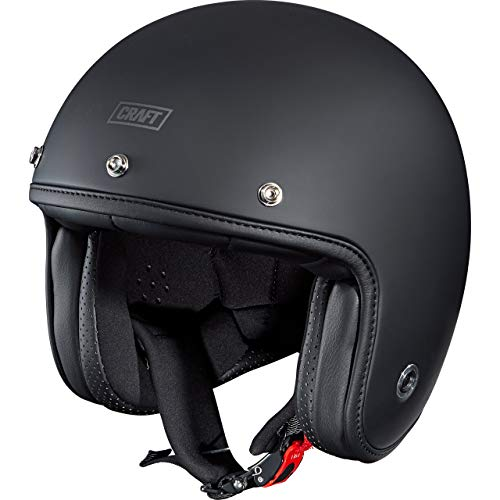 Craft Jethelm Motorradhelm Helm Motorrad Mopedhelm Jethelm 1.0 3C Matt Black XL, Unisex, Chopper/Cruiser, Ganzjährig, matt schwarz