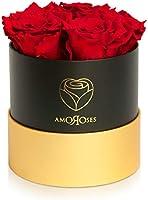 Amoroses Petite - Confezione Regalo 5 Rose Stabilizzate Eterne - Elegante Bouquet di Fiori Veri | Idea Regalo (Petite...
