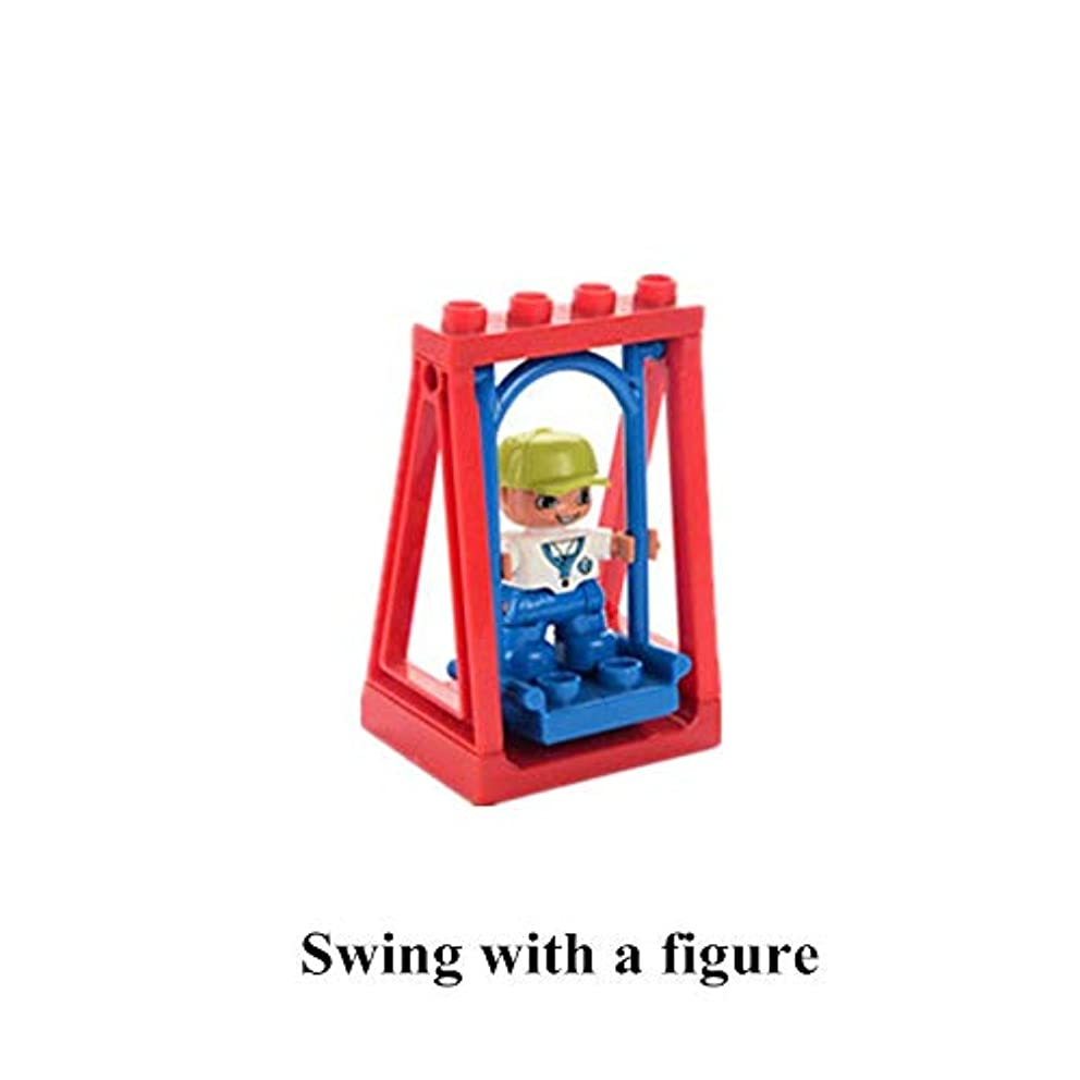 Free Combination - Big Size DIY Building Blocks Swing Seesaw Table Fish Accessories Kids Toys for Children Compatible with Legoingly Duplo Bricks - by Orchilld - 1 PCs