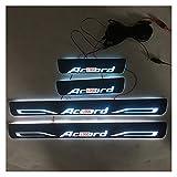 Protectores de umbral de puerta de coche 4pcs / set aplicable compatible con la lámpara Acuerdo de Transmisión de LED Color de la puerta Sills Bienvenido Pedal / Umbral vehículo iluminación dinámica c