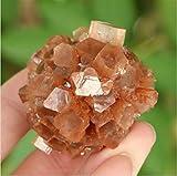 ABCBCA Aragonita Cristal Natural de Naranja Florido Mineral Specimen Cluster
