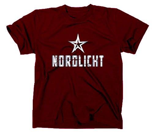 Nordlicht T-Shirt Hamburg Flensburg Bremen Rostock Kiel Lübeck, XXL, Maroon