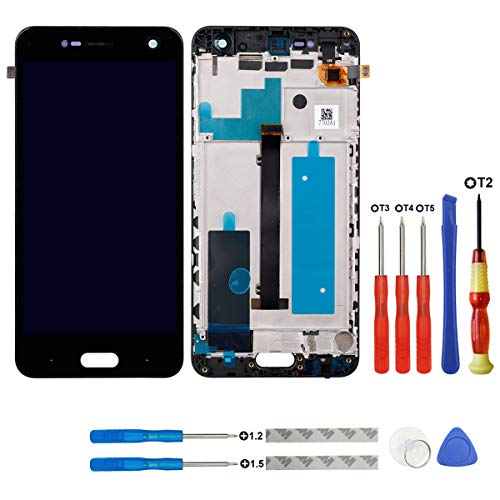 swark LCD Display für ZTE Blade V8 Smartphone Rahmen+Tools (Schwarz) LCD Display Touchscreen