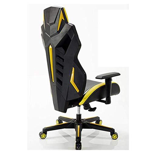 N&O Renovation House Gaming Chair Ergonomic Rotating Reclining High Back Rotating PU Leather Racing Computer Desk and Chair Gaming Chair Blue