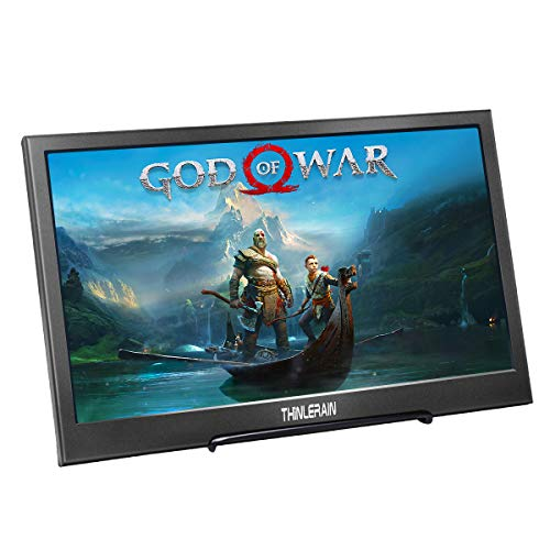 Tragbarer Monitor 13,3 Zoll HDMI IPS Bildschirm 1920 x 1080 Gaming Monitor Portable USB Stromversorgung für PS3 PS4 Raspberry Pi WiiU Xbox Laptop PC Windows 7 8 10, Thinlerain