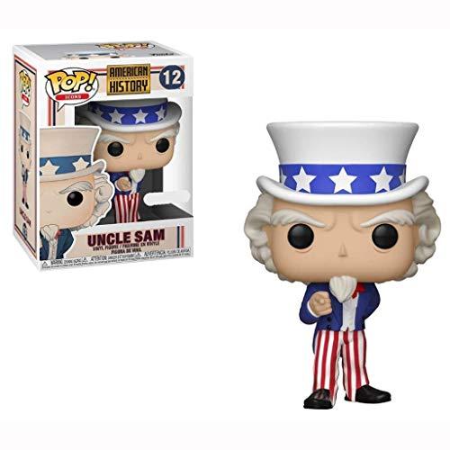 CCLL Figura Pop!Regalos de Historia Americana Iconos Tío Sam Exclusivo Vinilo Figura Kid muñeca de colección de Juguete Modelo de 3.9 Pulgadas Toys