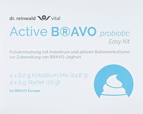 dr.reinwald Active BRAVO probiotic (MyBIOSA Easy Kit) – 2 x 4 probiotische Pulvermischungen, um BRAVO Joghurt herzustellen – Mit Kolostrum & aktiven Darmkulturen – Für Darmflora & Mikrobiom