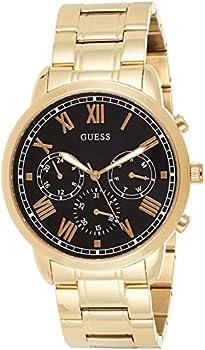 GUESS 44mm Gold-Tone Steel Quartz Men's Bracelet Watch