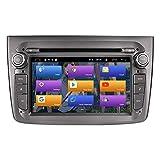 BOOYES para Alfa Romeo Mito 2008-2012 Android 10.0 7' Reproductor de DVD para automóvil Multimedia Navegación GPS Radio automática Estéreo Soporte Auto Play TPMS OBD 4G WiFi DAB SWC (Gray)