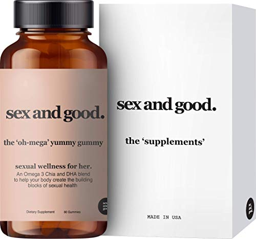 Sex and Good: The Oh-Mega Gummy Vitamins - Herbal Supplements with Vitamin C, Omega 3, DHA - 60 Gummies - Cardiovascular Support and Hormone Balance for Women - Plant-Based and Non-GMO - Made in USA