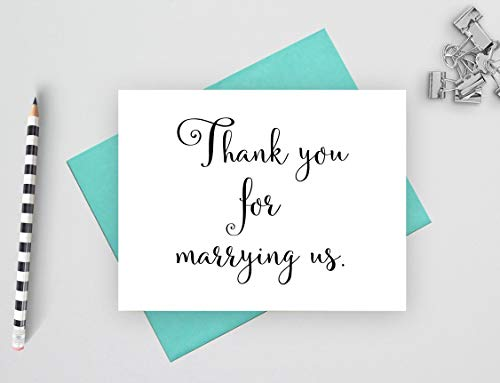 Thank you for marrying us card, wedding thank you cards, note cards for wedding, 1 folded card