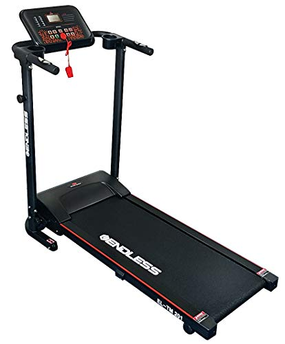 Endless TM-201 Blend 1.25 continuous (2 HP Peak) Motorized Treadmill-Max Speed 10KM/HR (Black/Red)