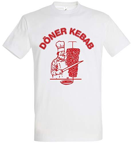 Döner Kebab Camiseta blanca para hombre con logotipo de Kebab Blanco XXL