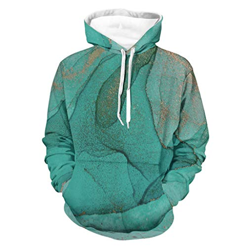 COMBON Shop Sudadera deportiva de cuello redondo para hombre, color blanco, talla 2XL