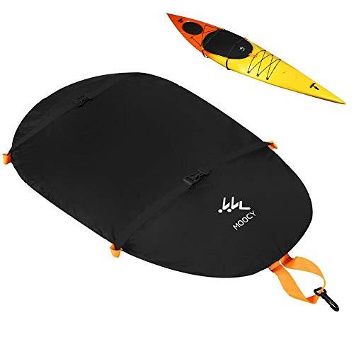 Cubierta de cabina de kayak impermeable, anti UV cubierta de polvo de cabina de kayak, cubierta de cabina de tabla de surf, cubierta de cabina de nylon universal para protector al aire libre, negro