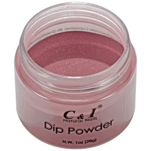 C & I Dip Powder Tauchen Pulver, Farbe # 43 Brauner Zucker, Gelnägel Effekt, Pulver für Nagellack, Rot Farbsystem, 1 oz / 28 g