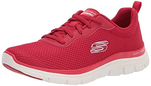 Skechers Damen Flex Appeal 4.0-Brilliant Vie Sneaker, Rot = Rot, 37 EU