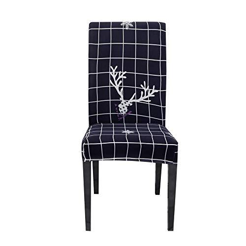 LJJFZP Fundas de silla de comedor 6 piezas modernas sillas elásticas cubiertas protectoras, montaje retráctil universal es simple y duradero extraíble lavable silla cubre la serie de Navidad