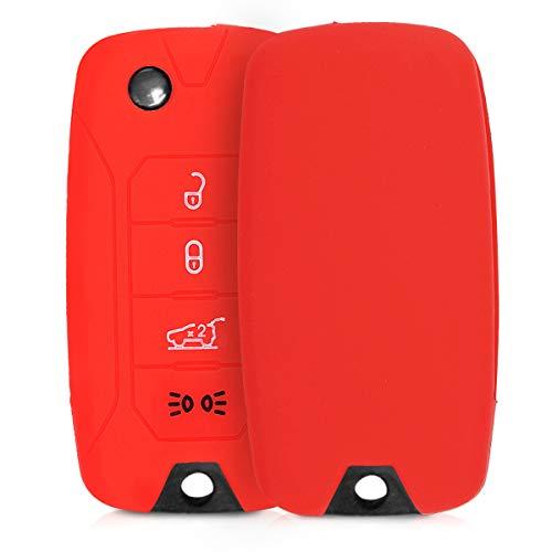 kwmobile Funda de Silicona Compatible con Jeep Llave de Coche Plegable de 4 Botones - Carcasa Suave