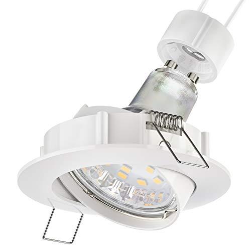 parlat Foco empotrable de techo LED CIRC giratorio blanco GU10 Lámpara LED 200lm 110° blanco