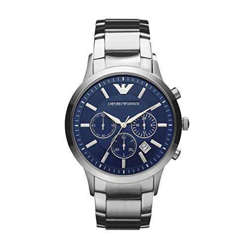Emporio Armani Men's AR2448 Dress Stainless/Blue Dial Watch