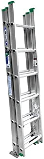 Werner D1216-3 16-Feet 225-Pound Aluminum 3 section Compact Extension ladder by Werner