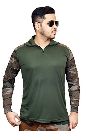 AXOLOTL Military/Army Uri Style Camouflage T-Shirt for Men (Medium)
