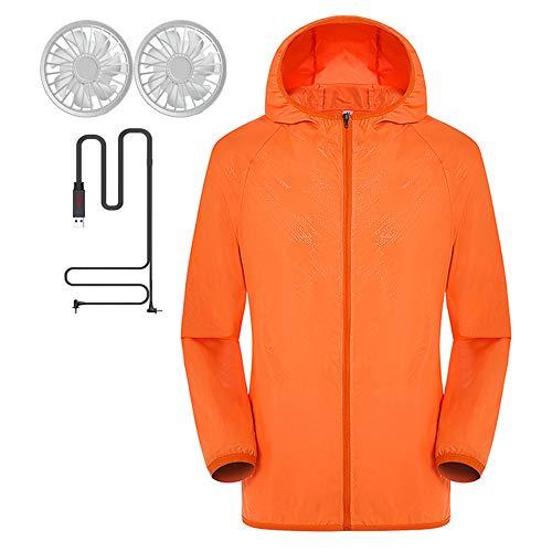 ZXLLAFT Klimatisierte Kleidung Mit Lüfter Sonnenschutzkleidung Verstellbarer Für Den Sommer Im Freien Arbeitskleidung,D,M