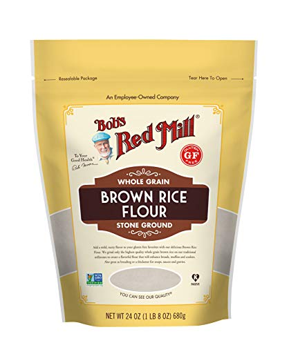 Bob#039s Red Mill Gluten Free Brown Rice Flour 24 Oz Pack Of 4