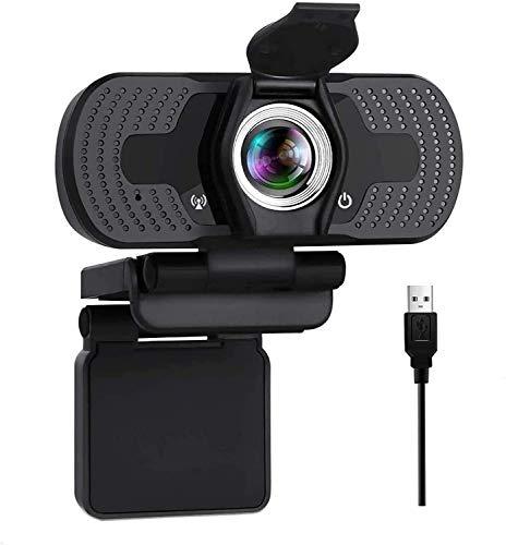 AOYOMO Webcam 1080P Full HD, PC Cámara Web de Alta Definiciócon con Cubierta de Privacidad, Micrófono Reductor de Ruido y...