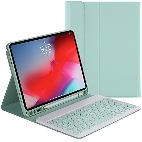 ZOMUN Capa para teclado para iPad Air 4ª geração (iPad Air 4 10,9 pol.)/iPad Air 2020 10,9 polegadas, teclado Bluetooth sem fio e capa fólio de couro sintético com suporte para Apple Pencil