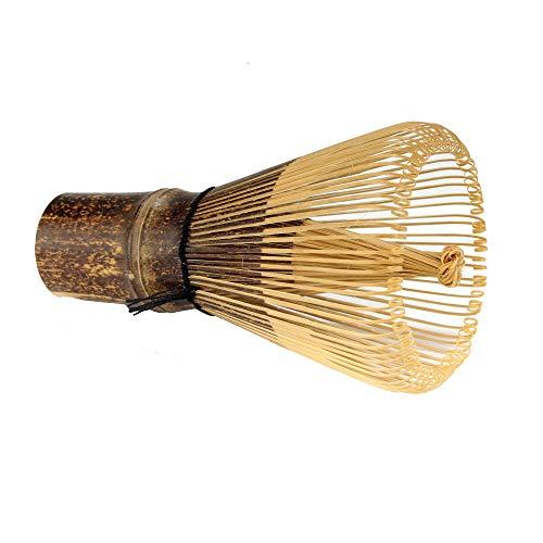 BambooMN Japanese Matcha Whisk Chasen - Traditional Handcurled Matcha Utensil - Black - 1 Piece