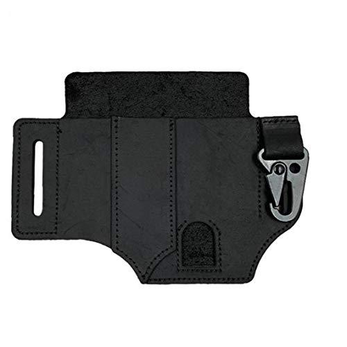 linjunddd Lederscheide Multi Pocket-Organizer-Taschenlampe Tasche Mit Stifthalter Schlüsselanhänger Schwarz Für Männer Komfortable Versorgung