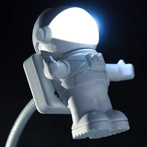 Bellaluee Exquisito Astronauta Led Luces de Noche Astros USB Luces de Noche Creativas Luces de Libro USB para lámparas de Mesa de Ordenador