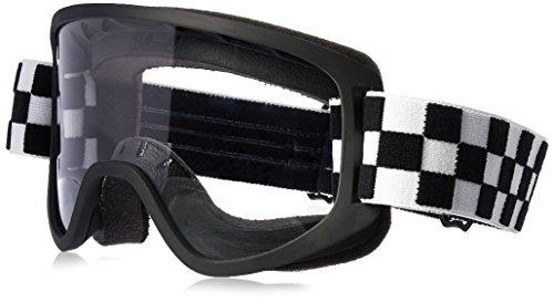 Biltwell M2CHKBKWT Script Checkers Moto 2.0 Schutzbrille, Schwarz/Weiß, Einheitsgröße