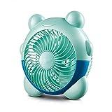 JINKEBIN Fan de USB de Ventilador eléctrico pequeño Ventilador PP Materiales Mini Segunda Velocidad de Engranajes Forma Reloj Despertador Cama Escritorio de Oficina residencia de Estudiantes Silencio