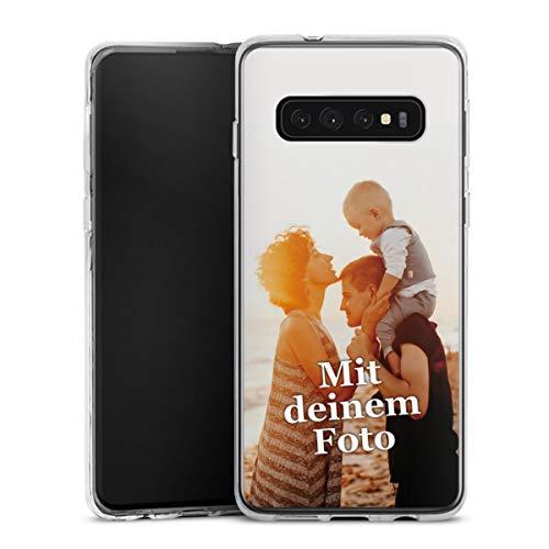 DeinDesign Silikon Hülle kompatibel mit Samsung Galaxy S10 Plus Handyhülle Case Selbst Gestalten Personalisieren Zum Anpassen