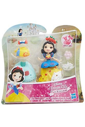 Disney Little Kingdom Mode-Prinzessinnen mit Kleidern und Accessoires, Spielfiguren-Set für Kinder zum Spielen und sammeln (Schneewittchen)