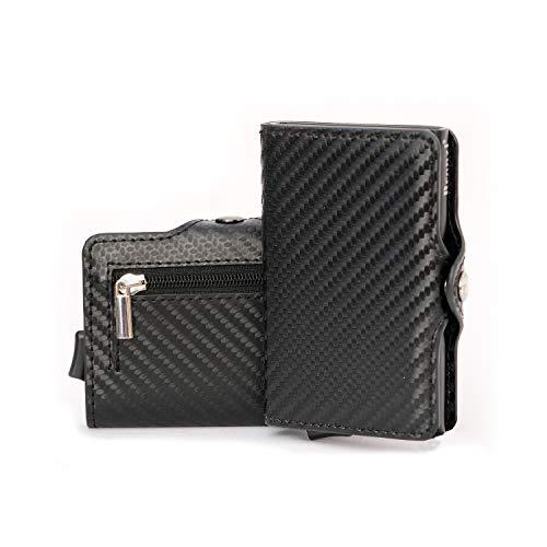 Cartera Bronzi para tarjetas de crédito – Cartera de hombre Slim portatarjetas – Mini tarjetero – Protección RFID portatarjetas – Diseño Smart 2021 italiano caja regalo